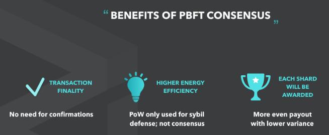 Картинка преимущества PBFT консенсуса