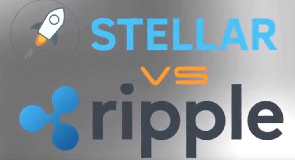 Картинка конкурирующие Stellar и Ripple