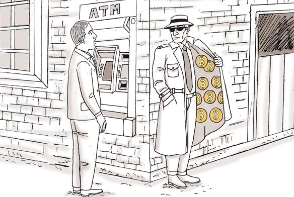 Картинка нелегальной продажи биткоинов для тех, кто ценит материальные ценности