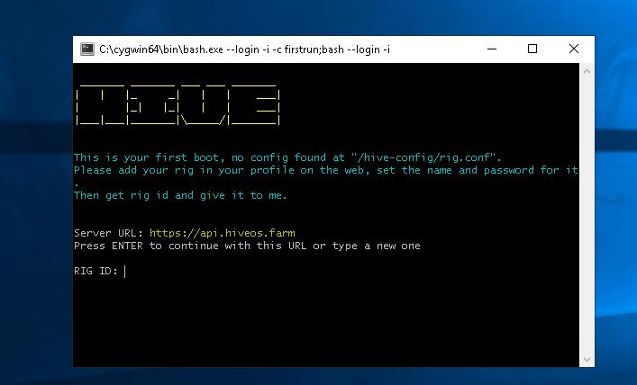 Запуск и майнинг в HiveOS в операционной системе Windows